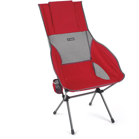 Helinox Savanna Chaise, scarlet/iron/steel grey